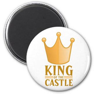 Rey del castillo imán redondo 5 cm