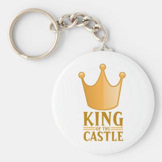 Rey del castillo llavero redondo tipo pin