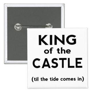 Rey del castillo pin cuadrado