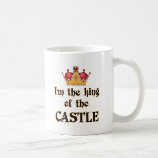 Rey del castillo taza básica blanca