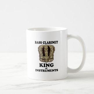 Rey del clarinete bajo de instrumentos taza