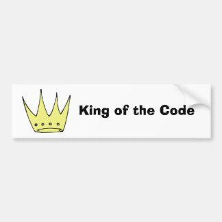 Rey del código (d) pegatina para auto
