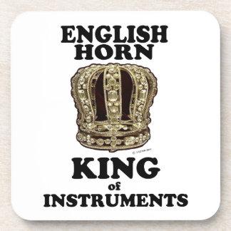 Rey del cuerno inglés de instrumentos posavasos