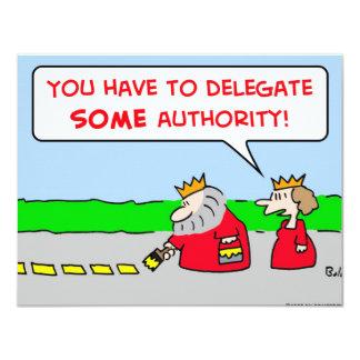 """rey del delegado de la autoridad invitación 4.25"""" x 5.5"""""""
