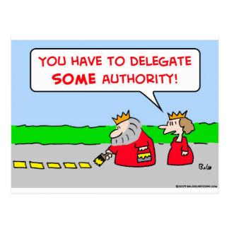 rey del delegado de la autoridad postal