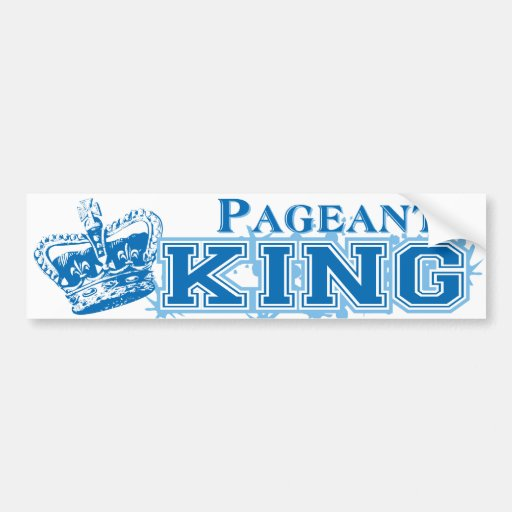Rey del desfile etiqueta de parachoque