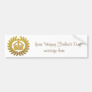 Rey del día de padre pegatina de parachoque