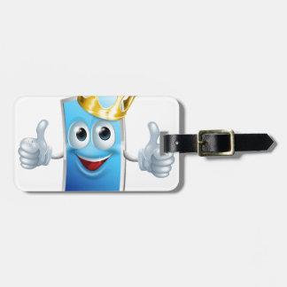 Rey del dibujo animado del teléfono móvil etiquetas bolsa