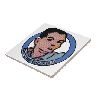 Rey del dibujo animado del vintage de la parrilla azulejos
