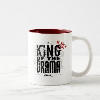 Rey del drama taza de dos tonos