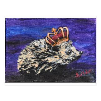 Rey del erizo tarjeta postal