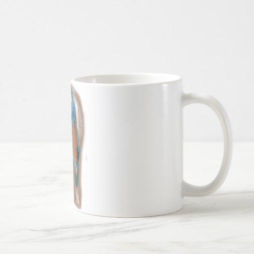 Rey del establo taza básica blanca