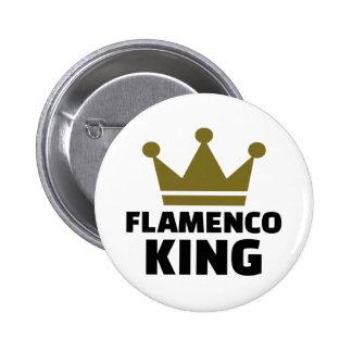 Rey del flamenco pin redondo de 2 pulgadas