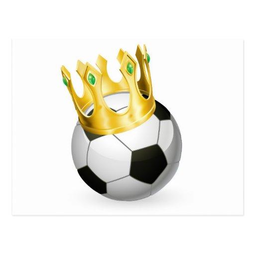 Rey del fútbol del fútbol postal