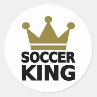Rey del fútbol etiqueta redonda