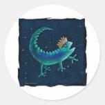 Rey del Gecko Etiquetas Redondas