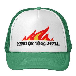 Rey del gorra del camionero de la parrilla con las