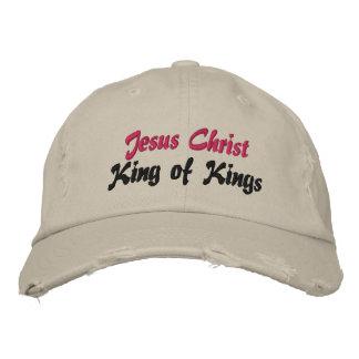 Rey del Jesucristo de reyes Cap Gorras De Béisbol Bordadas