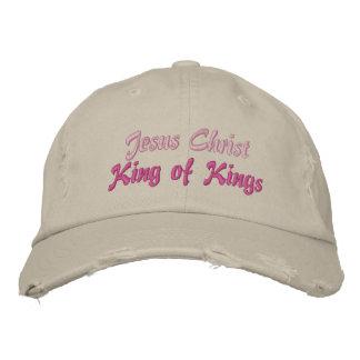 Rey del Jesucristo de reyes Ladies Cap Gorras Bordadas