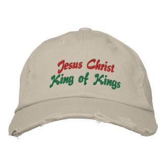 Rey del Jesucristo de reyes Ladies Christmas Cap Gorra Bordada