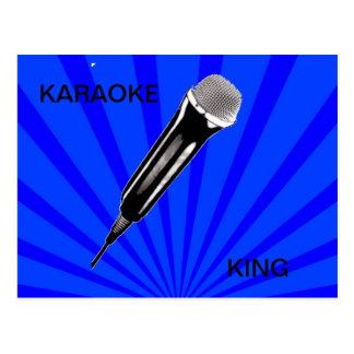 Rey del Karaoke Tarjeta Postal