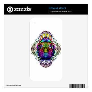 Rey del lagarto del arco iris en marco colorido skins para eliPhone 4