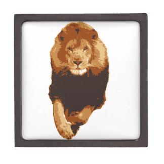 Rey del león caja de recuerdo de calidad