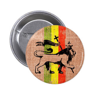 Rey del león del reggae pin redondo de 2 pulgadas