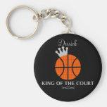 Rey del llavero del baloncesto de la corte