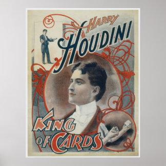 Rey del mago del vintage del ~ de Houdini de tarje Impresiones