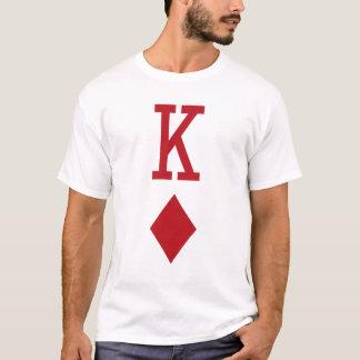 Rey del naipe del rojo de los diamantes playera