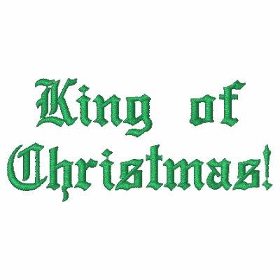 ¡Rey del navidad! Sudadera con capucha básica bord