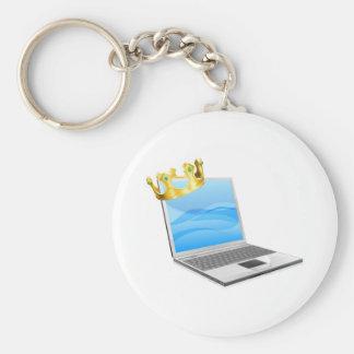 Rey del ordenador portátil llavero personalizado