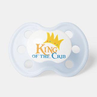 Rey del pacificador del pesebre chupetes para bebes