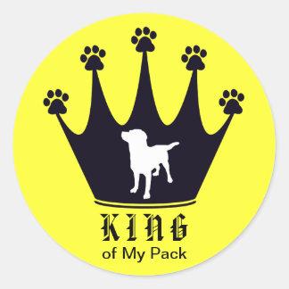 Rey del paquete etiqueta