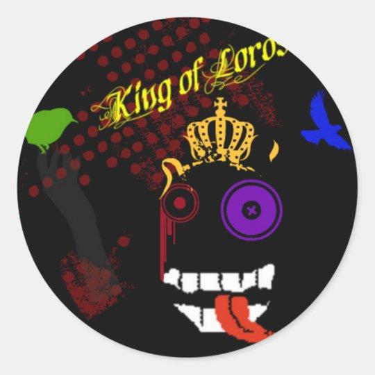 rey del pegatina de los señores