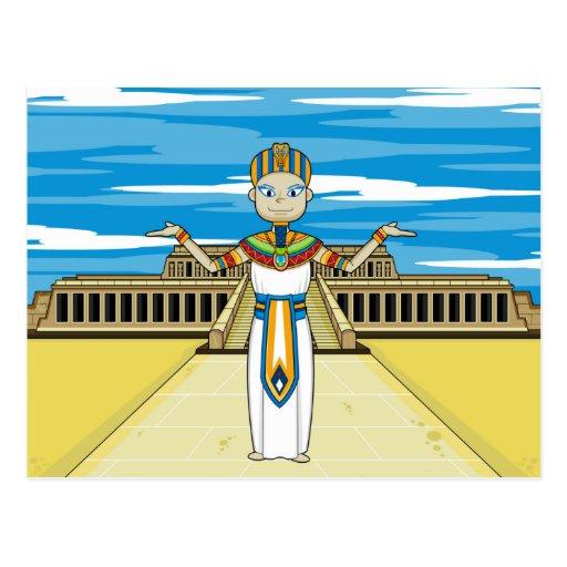 Rey del Pharaoh en la postal de Hatshepsut
