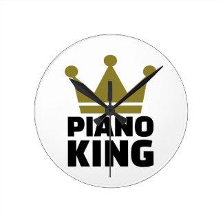 Rey del piano relojes de pared