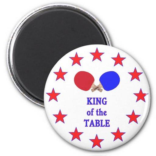 Rey del ping-pong de la tabla imán para frigorífico