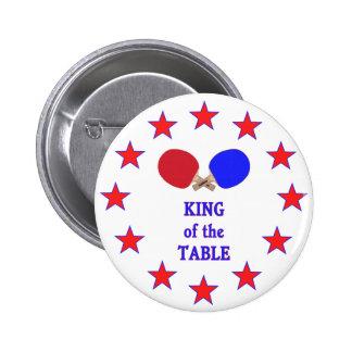 Rey del ping-pong de la tabla pin redondo 5 cm