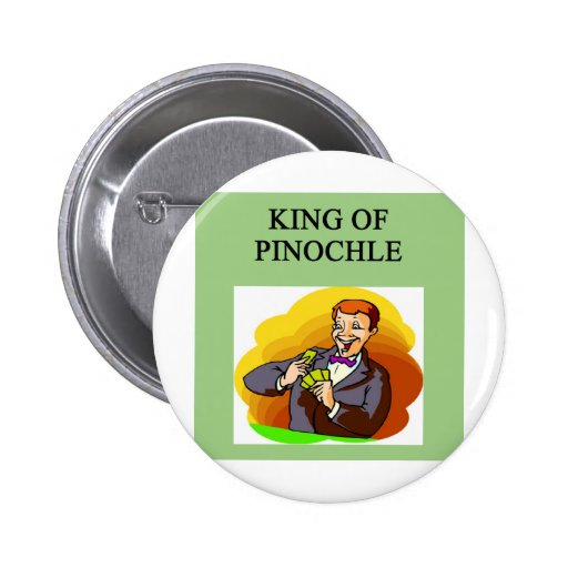 rey del pinochle pin redondo 5 cm
