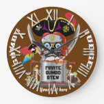 Rey del pirata de reyes Important View Hints Relojes De Pared