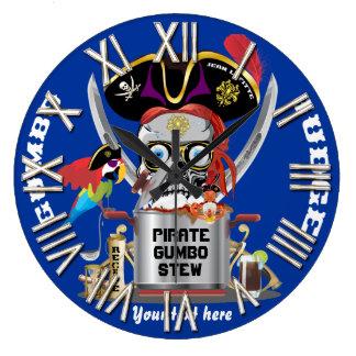 Rey del pirata de reyes Important View Hints Reloj Redondo Grande