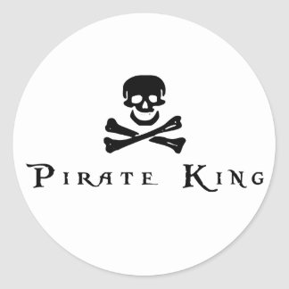 Rey del pirata etiqueta