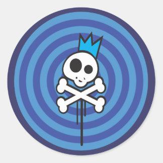 Rey del pirata pegatinas redondas