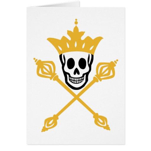 Rey del pirata tarjeta de felicitación