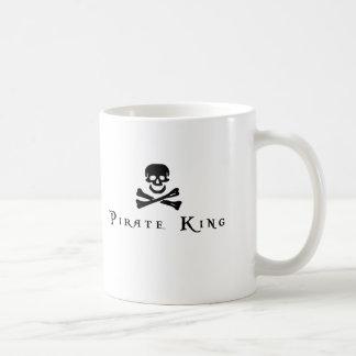 Rey del pirata taza básica blanca