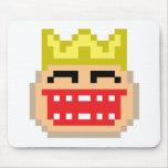 Rey del pixel alfombrillas de raton