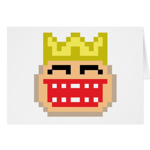 Rey del pixel felicitación
