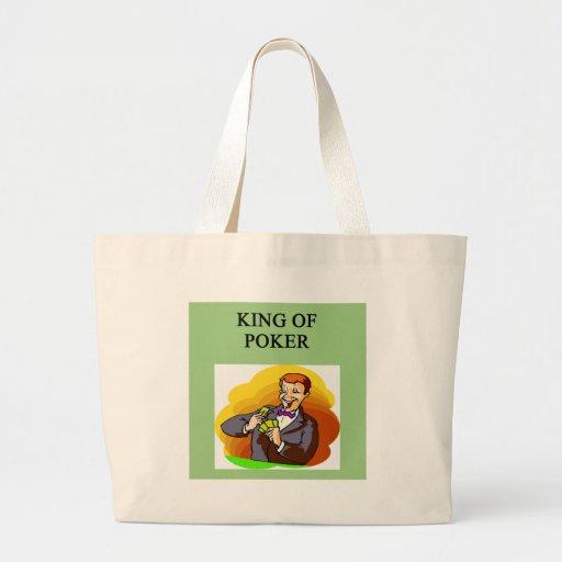 rey del póker bolsa tela grande